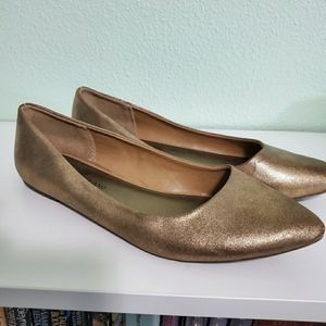 Christian Siriano for Payless | Gold Flats